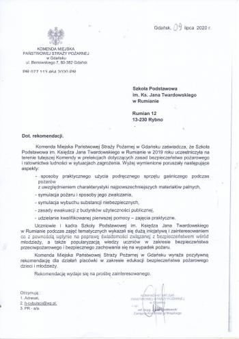 Komenda Miejska Straży Pożarnej w Gdańsku