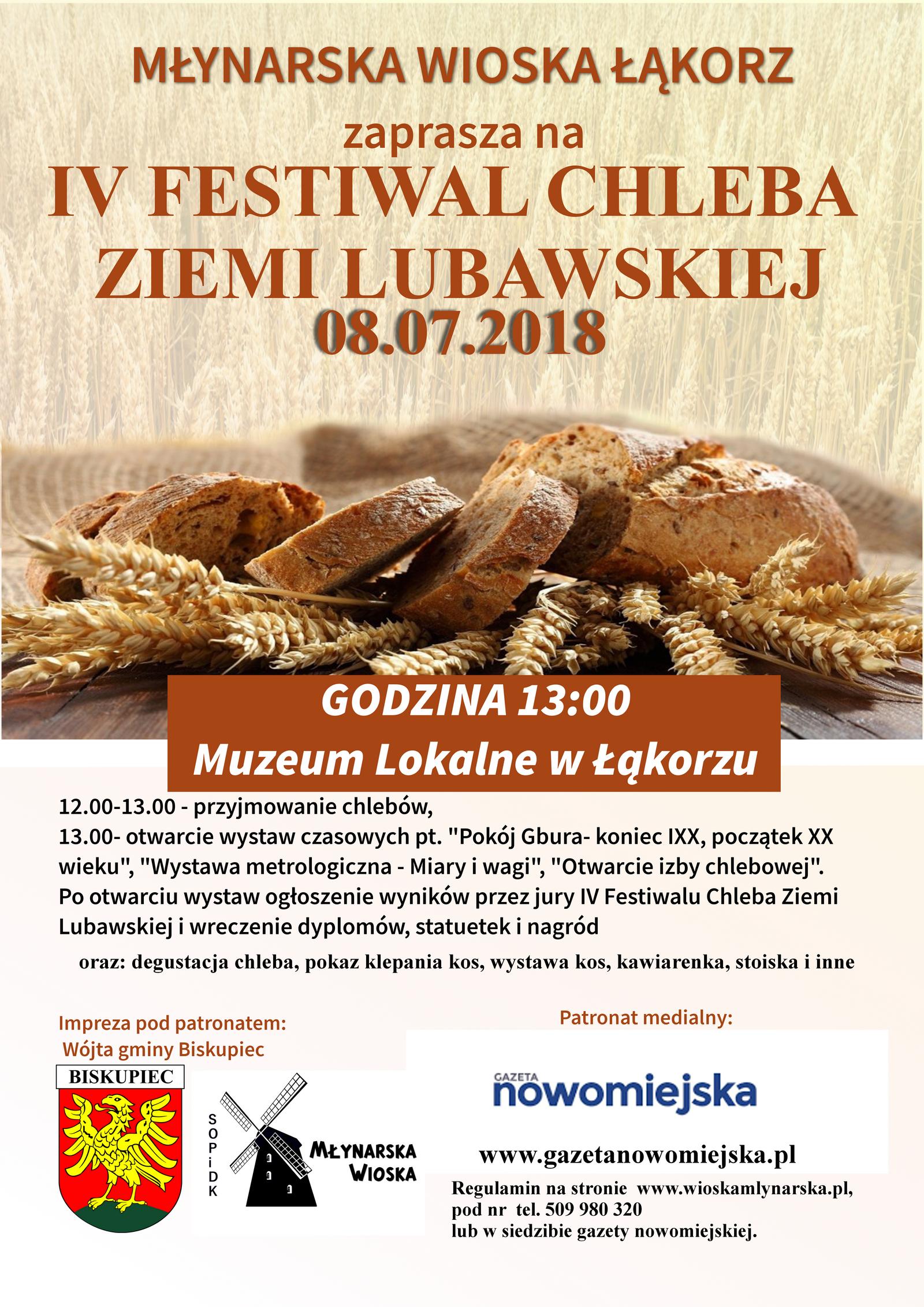 IV Festiwal Chleba Ziemi Lubawskiej