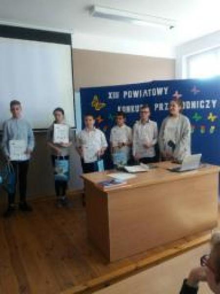 Wyróżnienie w XIII Powiatowym Konkursie Przyrodniczym