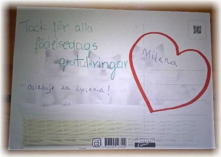Życzenia dla Milenki