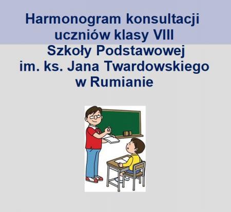Harmonogram konsultacji uczniów klasy VIII