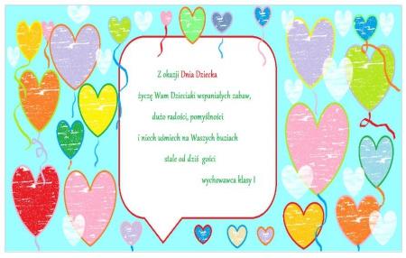 Dzień Dziecka- życzenia od Pani Katarzyny Bach