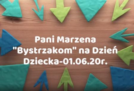 Dzień Dziecka - życzenia od Pani Marzeny Gapińskiej
