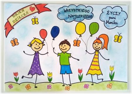 Dzień Dziecka- życzenia od Pani Moniki Ciecińskiej