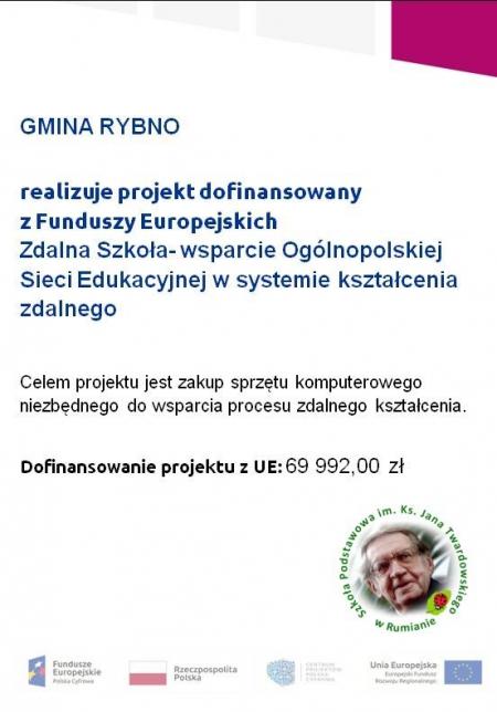 Zdalna Szkoła- wsparcie Ogólnopolskiej Sieci Edukacyjnej