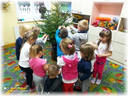 Grupa Misie w świątecznym klimacie