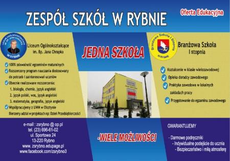 Oferta Zespołu Szkół w Rybnie