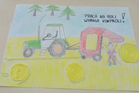 """XI Ogólnopolski Konkurs Plastyczny dla Dzieci """"Bezpiecznie na wsi mamy- od 30 latz KRUS wypadkom zapobiegamy""""."""