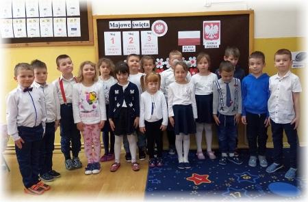 Przedszkolaki obchodziły Święta Majowe